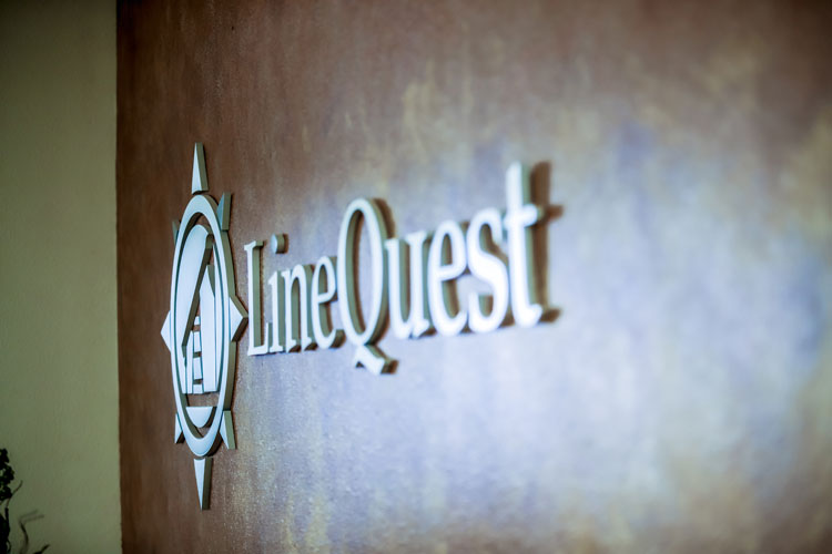Linequest logo on wall